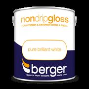 Berger Non Drip Gloss Brilliant White 2.5lt